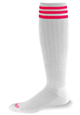 Pro Feet, Inc. - 268 3 Stripe Polypropylene Soccer Sock, Polypropylene, Stretch Nylon and Elastic